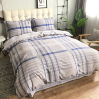 全棉生态磨毛四件套1.8m床上用品纯棉加厚双面磨毛双人床单 2.0m(6.6英尺)床 床单式四件套