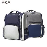 卡拉羊书包小学生男1-3-4-6年级减负护脊背包英伦风校园儿童双肩包CX2671