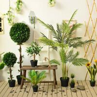 北欧大型绿植室内仿真植物天堂鸟龟背叶旅人蕉树装饰假花盆栽摆件