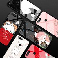 华为荣耀7x手机壳潮牌7A高配版玻璃个性创意女款畅玩7x卡通可爱套