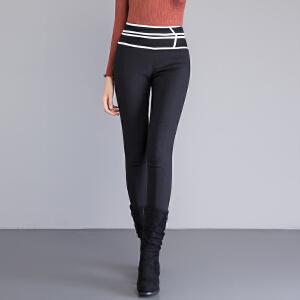 yaloo/雅鹿羽绒裤女新款高腰 显瘦加厚保暖裤外穿修身冬季白鸭绒