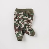 [3折价:69]加绒戴维贝拉男童宝宝秋冬装新款迷彩裤子DBJ9161-2