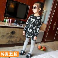 儿童休闲套装女童秋冬装18新款运动长袖卫衣裤韩版两件套男童套装
