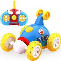 益米 翻斗车 翻滚特技车 越野遥控汽车模可充电动赛车儿童玩具车男孩玩具723红色
