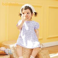 巴拉巴拉宝宝裙子婴儿碎花裙儿童连衣裙女童公主裙2021新款甜美萌夏