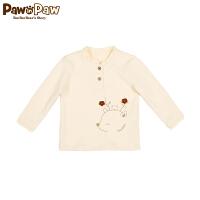 【4折 到手价:143元】Pawinpaw卡通小熊童装冬款女宝宝圆领长袖T恤婴幼儿长袖打底衫