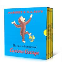 英文原版绘本 Curious George Classic Adventures 好奇猴乔治图画故事书11册盒装