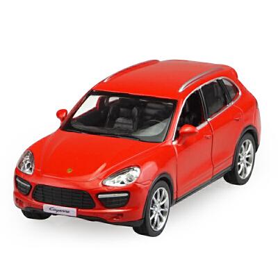 RZ1:36保时捷越野车SUV跑车合金玩具汽车模型小男孩 红色 保时捷卡宴-红