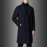 毛呢大衣男中长款冬季加厚韩版宽松落肩羊毛呢子外套妮子风衣羊绒