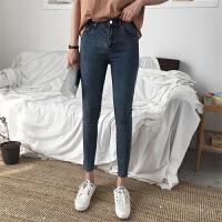 高腰弹力小脚铅笔裤韩版修身显瘦牛仔裤女春季休闲九分裤