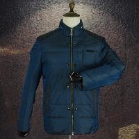 国内单剪标羽绒服男士冬装立领保暖商务休闲简约经典纯色羽绒外套