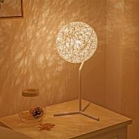 北欧床头灯简约现代创意卧室台灯浪漫温馨个性麻球田园时尚装饰灯
