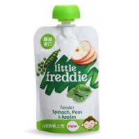 英国小皮Little Freddie 豌豆菠菜苹果泥90g 6个月以上 宝宝辅食