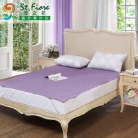 富安娜出品 圣之花素色亲肤透气保护床垫可折叠橡筋款保护床垫