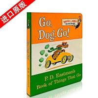 【顺丰速运】英文原版 Go,Dog Go! 苏斯博士Dr. Seuss 幼儿童英语启蒙阅读教材绘本撕不烂纸板书 低幼适