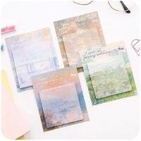 韩国可爱创意油画可撕便利n次贴小清新便签纸记事标记小本子文具