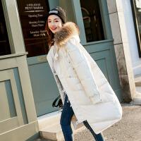 2017冬季新款韩版羽绒服女中长款宽松大码貉子毛大毛领羽绒外套