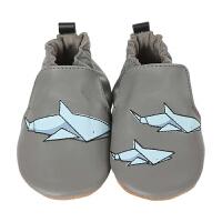 美国直邮/保税区发货 Robeez Shark-tastic 男童软底学步鞋鲨鱼图案 海外购