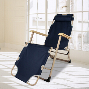 门扉 躺椅 加宽双方管三用躺椅折叠椅午休床沙滩床多功能阳台户外折叠躺椅
