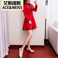 2018春款新款敬酒服新娘冬季结婚孕妇高腰回门礼服红色短款连衣裙