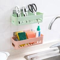 墙上塑料置物架壁挂免打孔洗漱架吸盘收纳架浴室整理架