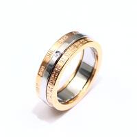 时间戒指女三环可转动食指日韩潮人大气个性网红钛钢指环 美版4# 周长4.7-4.8cm专柜8-9# 三环