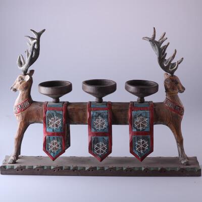 雕刻欧式烛台蜡烛台软装饰品摆件杯状蜡烛