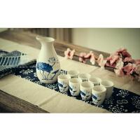 创意中式青花瓷白酒酒具套装分酒器家用