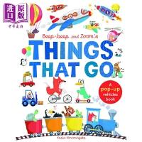 【中商原版】Beep-Beep & Zoom's Things That Go 立体的交通工具 翻翻书 低幼交通工具认知