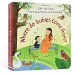 英文原版绘本 Where do babies come from? 妈妈我从哪里来 生命启蒙性教育认知 纸板书翻翻书