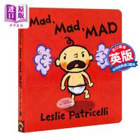 【中商原版】一毛小孩生活习惯丛书系列 生气的,很生气,生气极了 Mad, Mad, MAD 低幼启蒙绘本 性格习惯 纸板