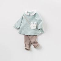 戴维贝拉秋冬女童新款套装 宝宝休闲两件套DBM8189