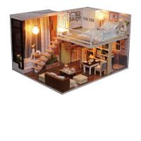 diy小屋公主房手工创意拼装房子模型小别墅送女生情人节生日礼物