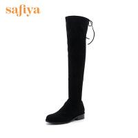索菲娅(Safiya)冬季显瘦低跟长靴SF84117021