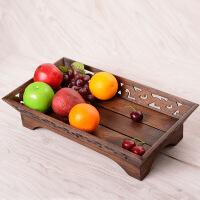 果盘客厅茶几装饰水果盘托摆件创意现代中式家用干果盘零食盘