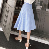 半身裙女2018夏装新款韩版学生森系条纹小清新中长款裙子夏潮