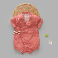 婴儿连体衣短袖爬爬服宝宝包屁衣哈衣睡衣新生儿衣服