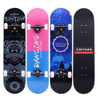 儿童四轮滑板青少年初学者夜光专业双翘滑板车男孩女孩