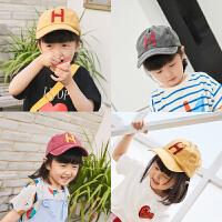男女童宝宝鸭舌帽 英文刺绣防晒帽童帽