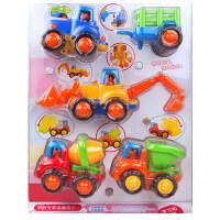 汇乐玩具车工程车快乐工程队惯性车挖土推土机搅拌挖掘机汽车男孩