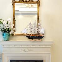 工艺品摆件客厅办公桌电视柜摆设创意帆船桌面装饰品