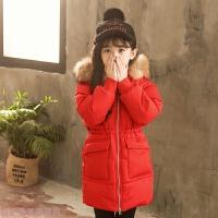 冬季女童棉衣2018新款韩版中长款儿童保暖棉袄冬季中大童加厚羽绒秋冬新款