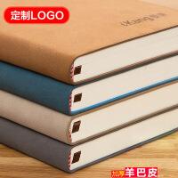 加厚记事本子定做创意复古韩国A5软面皮面商务笔记本套装定制LOGO