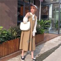 韩版新款纯色上衣时尚女装宽松显瘦无袖连衣裙两件套女港味套装潮