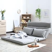 日式多功能休闲懒人沙发床榻榻米可折叠床