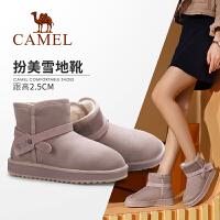 骆驼女鞋 2019冬季新款舒适保暖短靴百搭时尚加绒雪地靴女