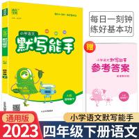 小学语文默写能手四年级下册语文人教部编版2021新版