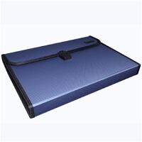 文件袋票据收纳文件包试卷 文具12格风琴包a4手提文件夹多层