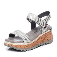 Millie's/妙丽2017夏专柜同款牛皮女凉鞋LH505BL7