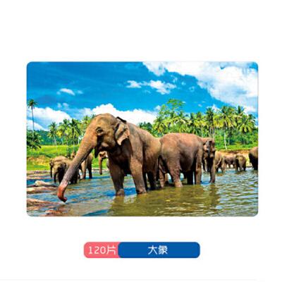 益龙灵(YILONGLING) 儿童动物拼图120/216片礼盒精装白卡纸质